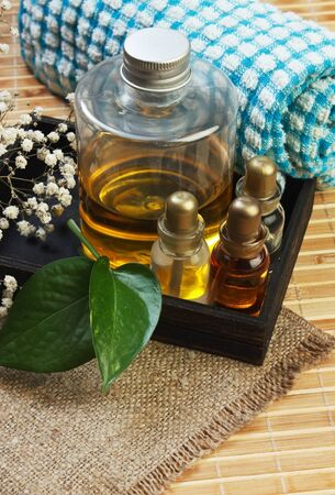 pacification: set of perfume oils in a wooden box