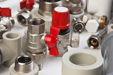 Set plumbing fittings Stock Photo - 12154389