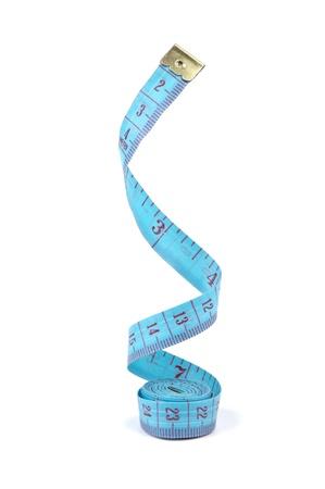 cintas: metros a medida aisladas sobre fondo blanco Foto de archivo