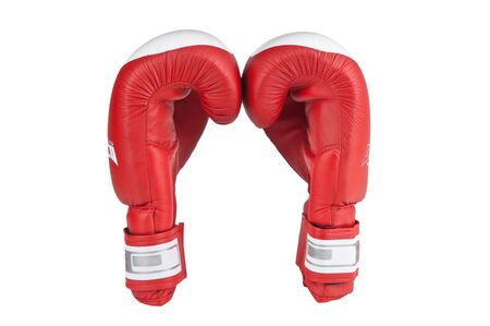boxing glove: red boxing glove isolated on white background