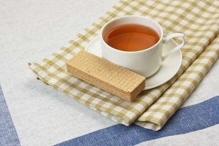 floral fruity tea on the table photo