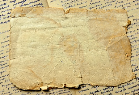 Vintage background with old paper and letters Stock Photo - 12951599