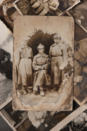 photos of pattern: Vintage photo  Red Army soldiers, the Russian Federation. About 1920