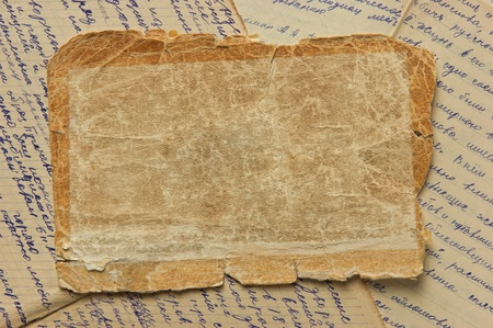 Vintage background with old paper and letters Stock Photo - 12951738