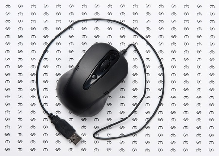 computer mouse as a sign of the e-mail photo