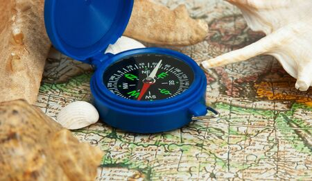 old map and compass, still life Stock Photo - 15178540