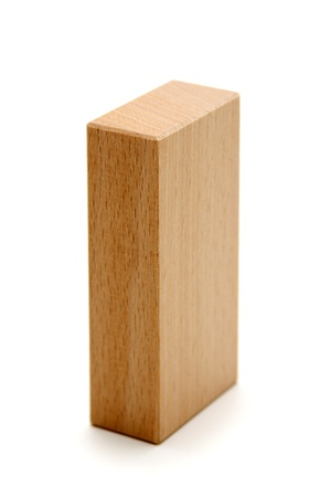 wood blocks: wooden geometric shapes parallelepiped  isolated on a white background