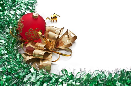lit image: Christmas decoration  on Christmas background  Stock Photo