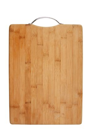 kitchen bamboo cutting board isolated on a white background photo