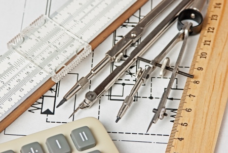 delineation: engineering tools on a technical drawing