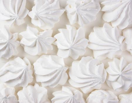 Meringue: white meringue cake Stock Photo
