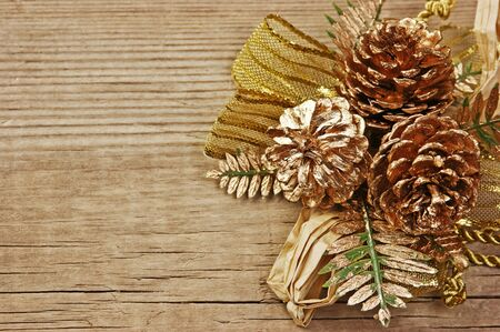 Christmas decoration on the old wooden background Stock Photo - 15825513