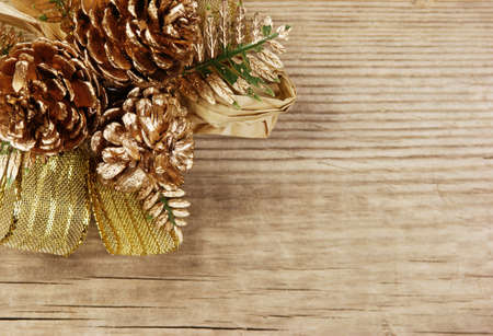 Christmas decoration on the old wooden background Stock Photo - 16062546