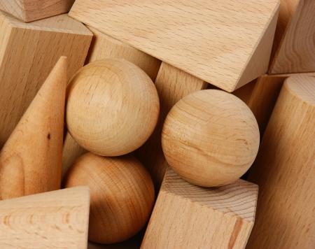 wooden geometric shapes photo