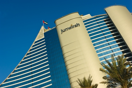 DUBAI, UAE-NOVEMBER 15: Jumeirah Beach Hotel on November 15, 2012 in Dubai. The hotel was voted the Best Hotel in the Middle East at the 2011 Business Traveller Awards held in Germany Stock Photo - 16376818