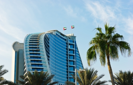 business for the middle: DUBAI, UAE-NOVEMBER 15: Jumeirah Beach Hotel on November 15, 2012 in Dubai. For the 2nd year in a row,the hotel was voted the Best Hotel in the Middle East at the 2011 Business Traveller Awards held in Germany