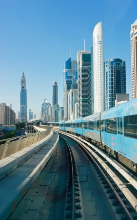 metro tracks in de Verenigde Arabische Emiraten Stockfoto