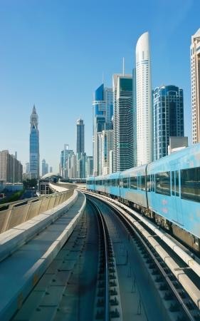 subway tracks in the united arab emirates Standard-Bild