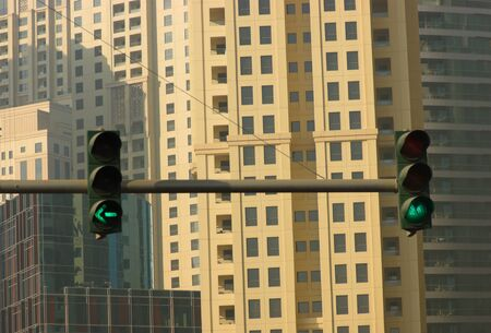 traffic light with green light photo