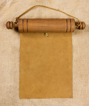 baccalaureate: Blank parchment manuscript in a wooden case