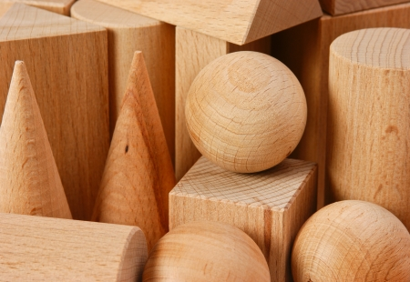 wooden geometric shapes photo