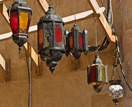 Traditional Arabic metal streetlight Stock Photo - 16876107