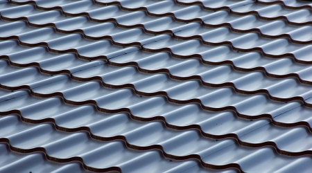 blue  metal tile roof, background Stock Photo - 16911558