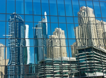 DUBAI, UAE - NOVEMBER 16: Modern buildings in Dubai Marina, on November 16, 2012, Dubai, UAE. In the city of artificial channel length of 3 kilometers along the Persian Gulf. Stock Photo - 17176233