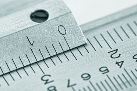 dial vernier calipers macro Banque d'images