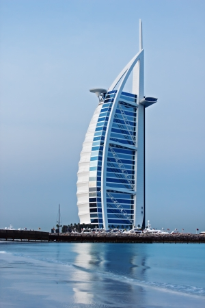 DUBAI, UAE-NOVEMBER 15: A general view of the worlds first seven stars luxury hotel Burj Al Arab Tower of the Arabs on November 15, 2012 in Dubai. Also known as Arab Sail