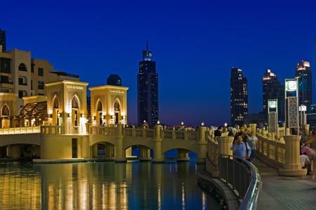 DUBAI, UAE - NOVEMBER 13: The area with tourist near Burj Khalifa. It is the world's tallest skyscraper (height 828m, 160 floors) on November 13, 2012 in Dubai, UAE Stock Photo - 17269037