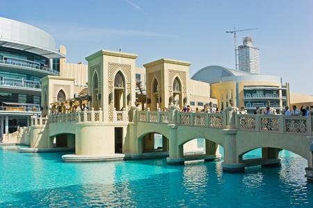 DUBAI, UAE - NOVEMBER 14: The area with tourist near Burj Khalifa. It is the world's tallest skyscraper (height 828m, 160 floors) on November 14, 2012 in Dubai, UAE Stock Photo - 17269069