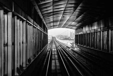 metro subway tracks in the united arab emirates photo