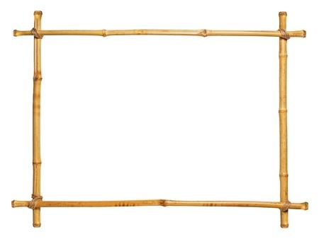 bamboo frame isolated on white background Stock Photo - 18214613