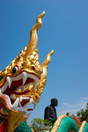 southern of thailand: Statue of an dragon in southern Thailand