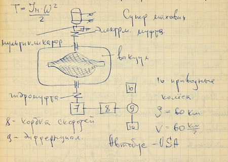 Page of old textured vintage paper with the calculation of the theoretical mechanics Stock Photo