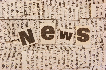 word news and collage cut from newspaper Stock Photo - 18923659