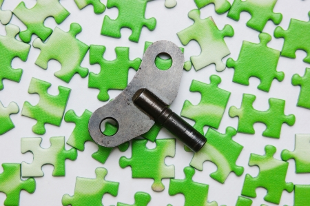 ecomomical: key on the green puzzle