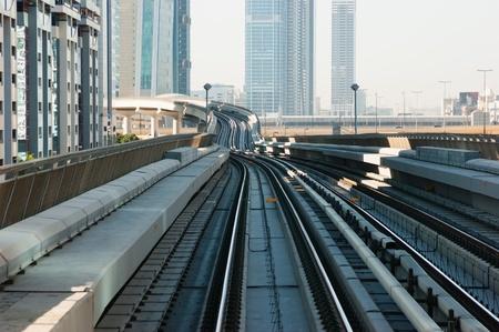 subway tracks metro in the united arab emirates photo