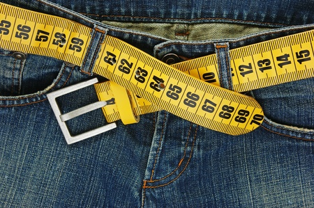 jeans with meter belt slimming photo