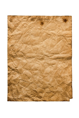 old paper isolated on a white background  Stock Photo - 19324551