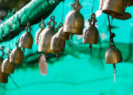 marmorate: tradition asian bell  Stock Photo