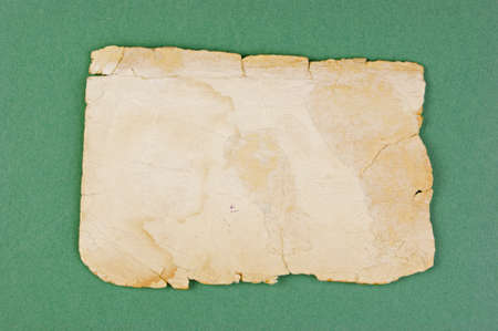 Vintage old paper on the green background Stock Photo - 19554544