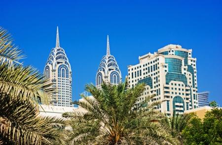 imitations: Dubai builds two imitations of NYC Chrysler building. Stock Photo