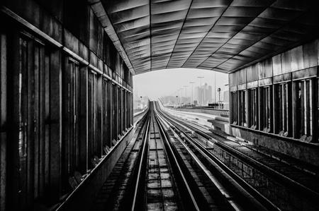 subway tracks in the united arab emirates photo