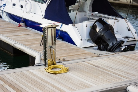 Pier for boats and yachts photo