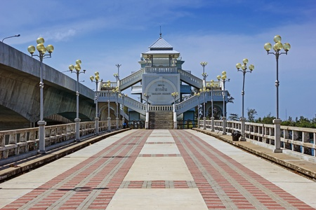 Sarasin bridge between the mainland and the island of Phuket Thailand photo