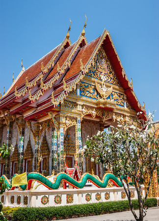 Buddhist temple in southern Thailand photo