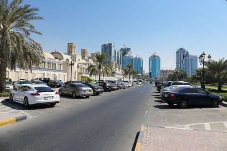 sharjah: Central Souq in Sharjah City, United Arab Emirates Editorial