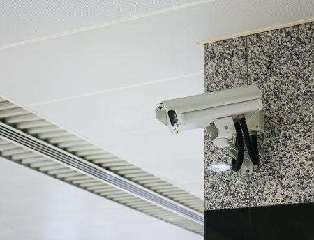 prison system: surveillance camera in the room